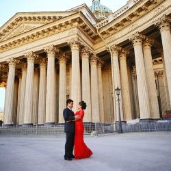 Свадебная фотосессия в Санкт-Петербурге для иностранцев осенью
