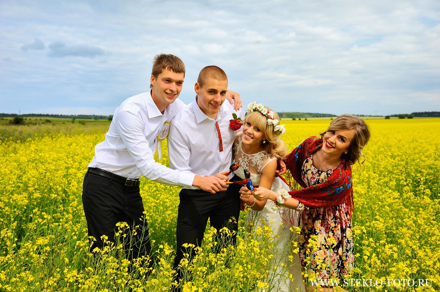Фото свадьбы в русском стиле летом