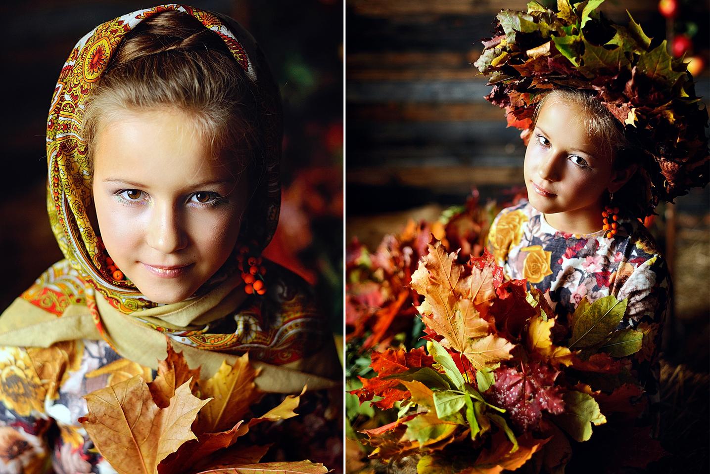 Профессиональное фото дети осень