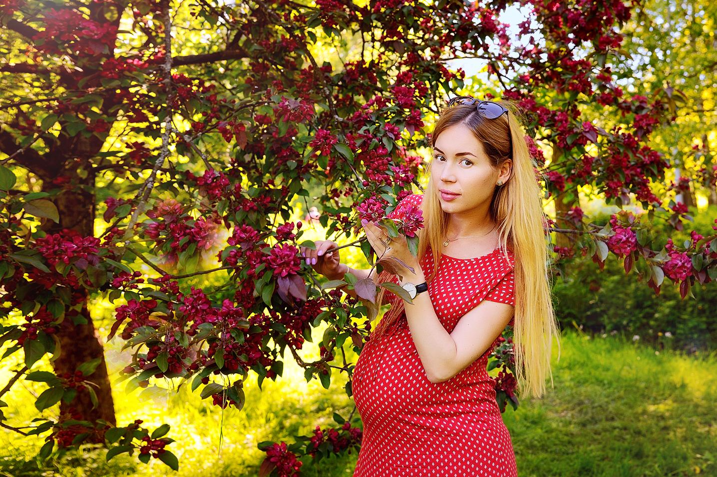 Цветочная фотосессия в парке СПб