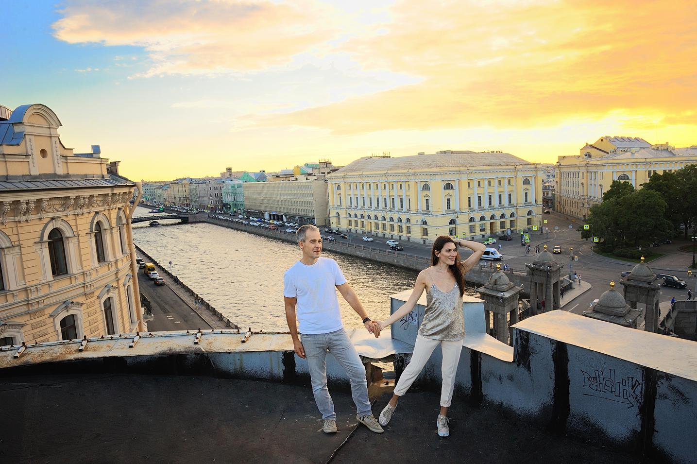 Фотосессия для влюбленной пары в Питере