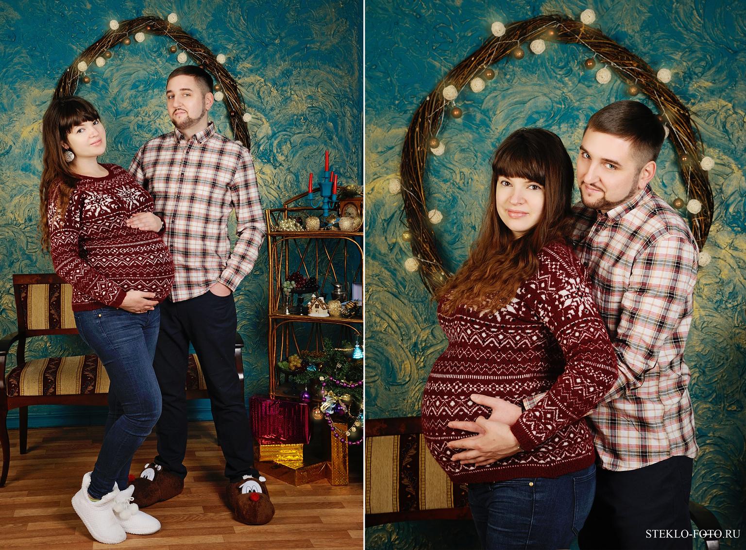 новогодняя фотосессия для беременных