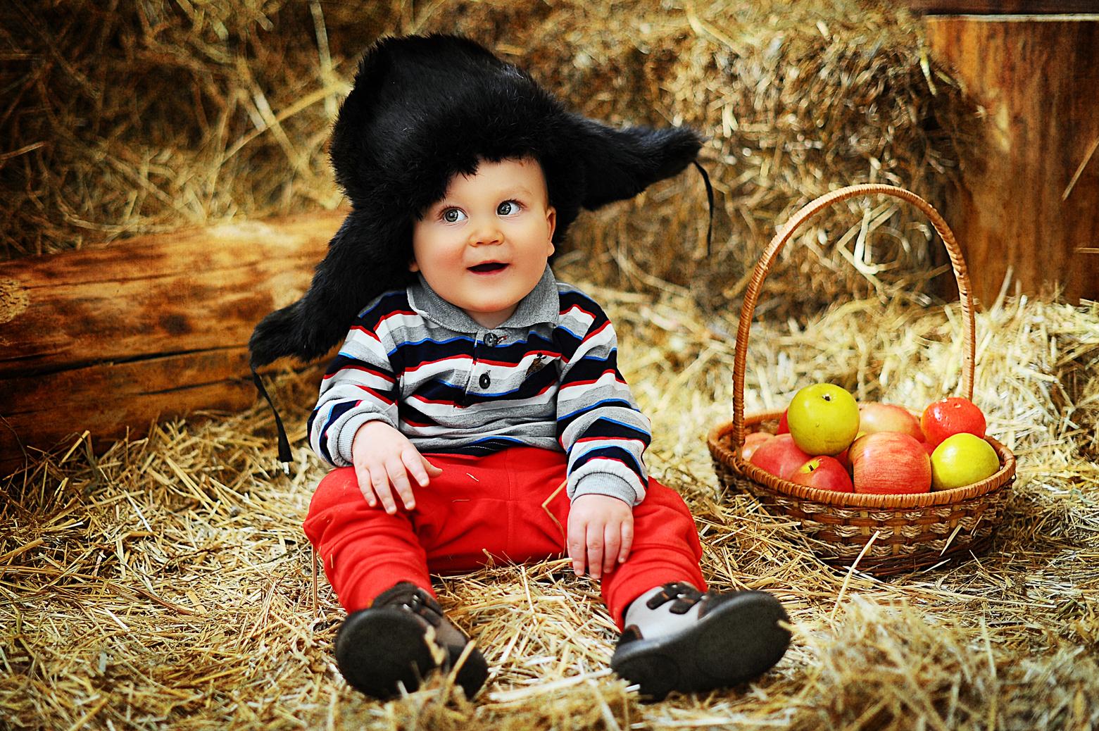 Идеи фото детей до года на улице