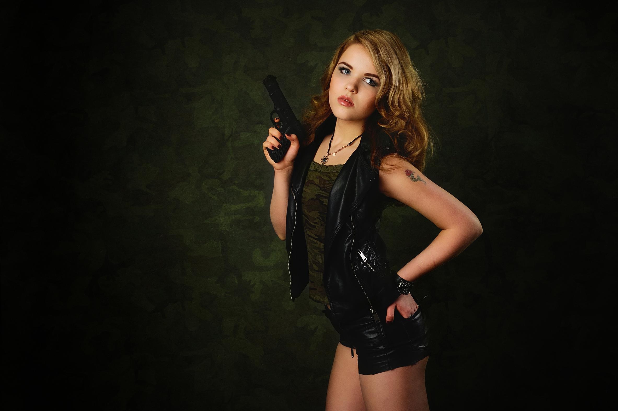Макияж для фотосессии в стиле милитари